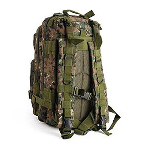 Militare Army Patrol Molle Assault Pack combattimento tattico Zaino d' idratazione zaino serbatoio d' acqua incluso, Black Python Pattern Digital Camo