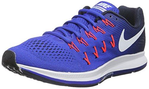 Nike Herren Air Zoom Pegasus 33 Laufschuhe, Azul (Racer Blue / White-Midnight Navy-Blue Glow), 46 EU (Herren Laufschuhe 33)