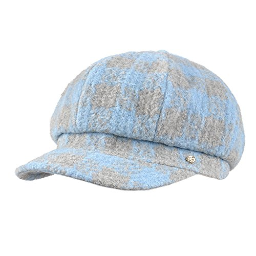Kenmont dame femmes filles béret chapeau court bouchon visière extérieure ras bord ciel bleu