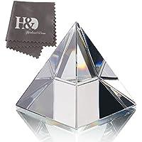 H&D HYALINE & DORA - Pisapapapeles de cristal transparente con caja de regalo