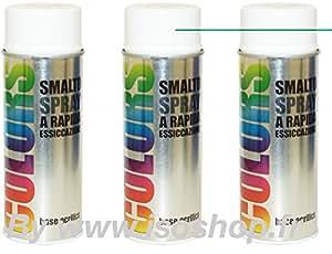 Aérosols de peinture Color Couleur Blanche RAL 9010 lot de 3x400ml