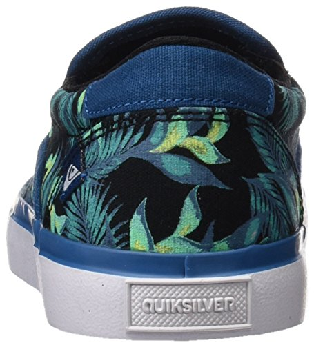 Quiksilver Jungen Shorebreak Slip-On Sneaker Blau (Blau / Grün / Weiß)