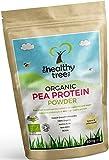 Proteína de Guisante Orgánico en Polvo - Alto contenido en aminoácidos y BCAA para aumentar el músculo, la fuerza y la recuperación - Más de 80% de polvo de proteína vegana pura por TheHealthyTree Company