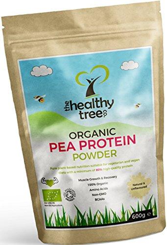 BIO Erbsenprotein-Pulver - Reich an Aminosäuren und BCAA - 80%+ pflanzliches, rein veganes Proteinpulver von TheHealthyTree Company