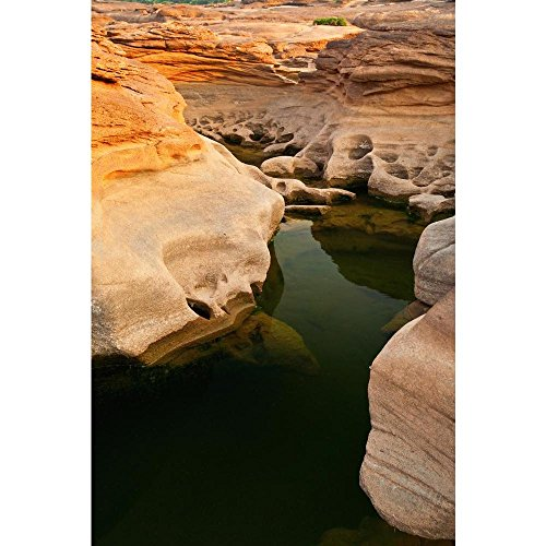 Pitaara Box Sam Phan Bok Rock Canyon Beside Khong River Thailand Peel & Stick Vinyl Wall Sticker 18 X 27Inch - 27 Zoll Rock