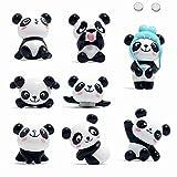 Aimant Frigo Puissant,8 pièce Panda Aimants Réfrigérateurs Animaux pour Tableaux Magnétiques, Tableau Blanc