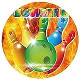 9 Stück Muffinaufleger Muffinfoto Aufleger Foto Bild Bowling (6) rund ca. 6 cm *NEU*OVP*