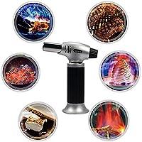 Splink Flambierbrenner Küchenbrenner Butangasbrenner für Creme Brulee mit Sicherung, nachfüllbar Tempereatur bis 1300°C(Butangas nicht enthalten)