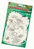 Folia 23269 - Exotische Tiere Kindermasken, 6 Stück, Motive sortiert, weiß