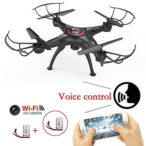 MG MULGORE RC Drone Quadcopter 2.4Ghz 4CH 6-Achsen Gyro Kopfloser Modus Modellflugzeuge Eine Schlüsselrückgabe Quadcopter 3D Go recurring copse Fly UFO Höhenhaltung mit Wifi Steuerung und HD Kamera …