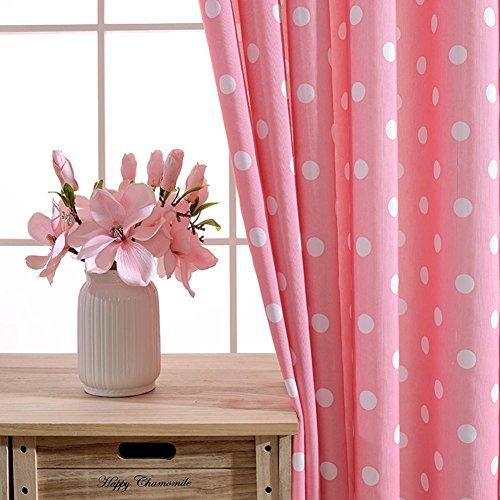 Bay-schlafzimmer-set (Pink Circle Vorhänge & Drapes Großes Fenster Blackout Leinen Behandlungen Wohnzimmer Vorhang Tuch Modern Simple Fertig Produkt Schlafzimmer Semi-Shading Tuch Bay Window-1PC , 1pc(300*270 cm?)