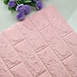Huhu833 3D PE Foam Wallpaper DIY Wandaufkleber Panels Room Decal Stone Brick Decoration Embossed Wandtattoo 70cmx77cm (F, 70cmx77cm)