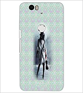 PrintDhaba Violin Girl D-3010 Back Case Cover for HUAWEI NEXUS 6P (Multi-Coloured)