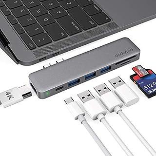dodocool USB C Hub, 7-in-1 Dual Typ C Hub Adapter für MacBook Pro 2018/2017/2016, MacBook Air 2018(4K HDMI Ausgang, SD/Micro SD-Kartenleser, 3 USB 3.0 Ports, Type C Hub kompatibel Thunderbolt 3)