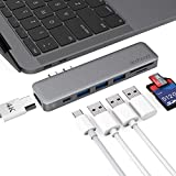 dodocool 7in 1Multi Port Hub with 2USB Ports/4K HD Output Port/SD/TF Card Reader 3USB Type C Thunderbolt Port and 3SuperSpeed USB 3.0Ports for MacBook Pro 13.3Inches/15.4Inches