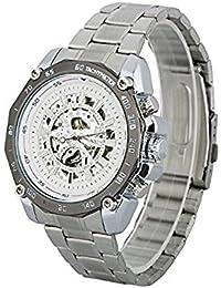 timelyo® Watch Herrenuhr Automatik Weiße Sport Replica Luxe MECANIQUE weißer Stahl