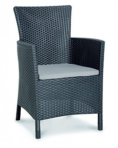 Migliore 13510050 sedia da pranzo napoli, grafite / grigio chiaro