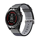 SongNi® New Nylon Watch Fine Woven Bracelet Replacement Strap for Garmin Fenix 5 Smart Watch-Black