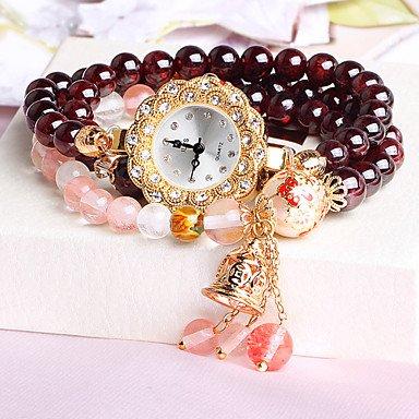 beautiful-watches-womens-watch-natural-garnet-bracelet-fashion-watch-women-hand-painted-waterproof-d