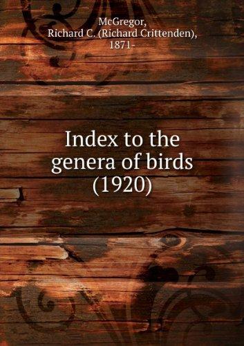 Index to the genera of birds (1920)