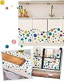 KingSang Wandsticker Wandtattoo Wasserdicht Wandaufkleber Hintergrund Wanddeko Aufkleber für Wohnzimmer Raumdekoration Wohnung Schlafzimmer Kinderzimmer Küche - Bunt Kreis