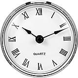 3-1/ 8 Zoll (80 mm) Quarzuhr Fit-up/ Insert mit Goldrand und Römische Ziffer, Quarzwerk (Silver Rim)