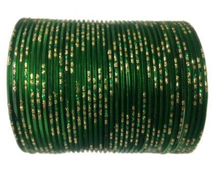 Indian Bollywood Metal Bengle (Green jari dot),Armband,Armreifen,brecelet, Handschmuck , Indische Chudi,Bollywood,Goa