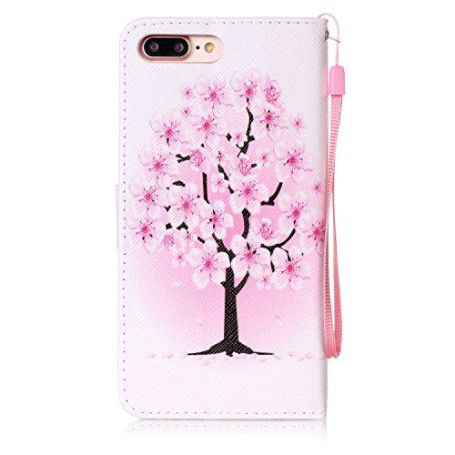 PU Cuir Coque Strass Case Etui Coque étui de portefeuille protection Coque Case Cas Cuir Swag Pour Apple iPhone 7 Plus (5.5 pouces) +Bouchons de poussière (7OO) 6