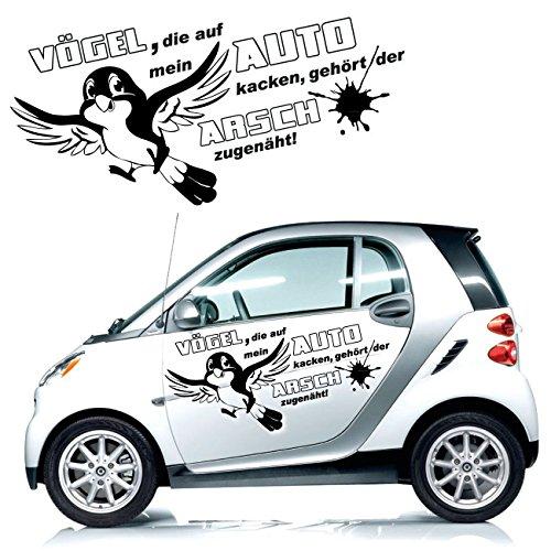 Coole Sprüche fürs Auto Aufkleber Texte Schriftzüge Car Tattoo Vogel Motiv   KB296