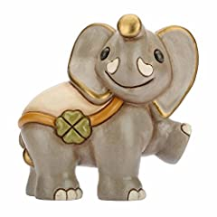 Idea Regalo - THUN® - Elefante Medio in Cammino Collezionabile - Animali Soprammobile da Collezione - Ceramica - I Classici