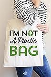 I' m Not a Plastic bag borsa di cotone casual borsa a mano shopping bag