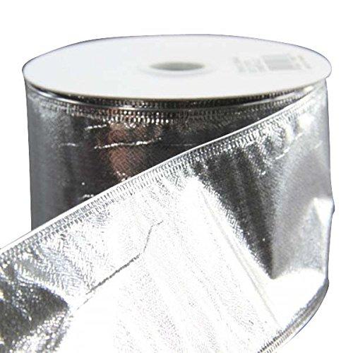 Jascotina 6,3cm x10Yard Metallic Silber Draht Lame Band -