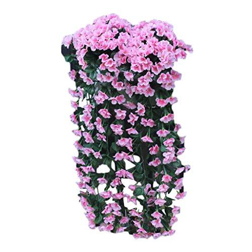 HANGUP Hängende Blumen Künstliche Violette Blume Wand Glyzinien Korb Hängen Garland Vine Blumen Gefälschte Seide Orchidee Balkon Dekor