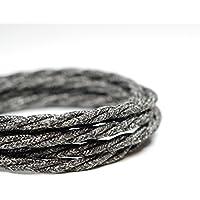 Cavo flessibile in tessuto vintage italiano di alta qualità, a 3 fili, spiralato in lana, colore: