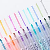 Pepional Surligneur Stylo marqueur Multifonction Bicolore Set Couleurs Vives pour marquer des Notes pour étudiant