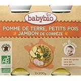 Babybio Pots Pomme de Terre Petits Pois/Jambon de Corrèze 400 g -