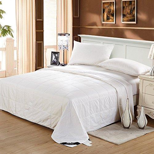Lilysilk Edredón Cama 200 280x240,Lavable,Relleno De Seda Natural Y Tela Exterior De Algodón De Alta Calidad,Color Blanco