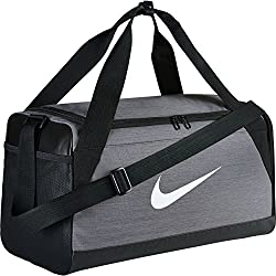 Nike Nk Brsla S Duff Bolsa de Deporte, Hombre, Gris (Flint Grey / Black / White), Talla Única