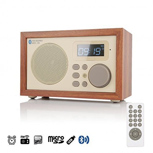 Radio-réveil bois InstaBox i50