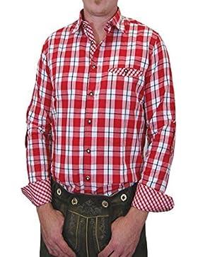 Trachtenhemd Hugo kariert mit edlen Kontrasten 100% Baumwolle