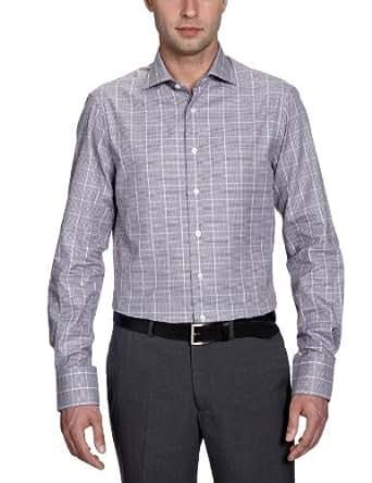 Arrow Herren Businesshemd Slim Fit, kariert DEVON SLIM FIT SC / CL00311A42, Gr. 43, Braun (034 Dark Brown)