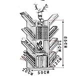 JZX Bücherregal, Modernes Minimalistisches Multifunktionsregal Aus Massivholz,Blanc