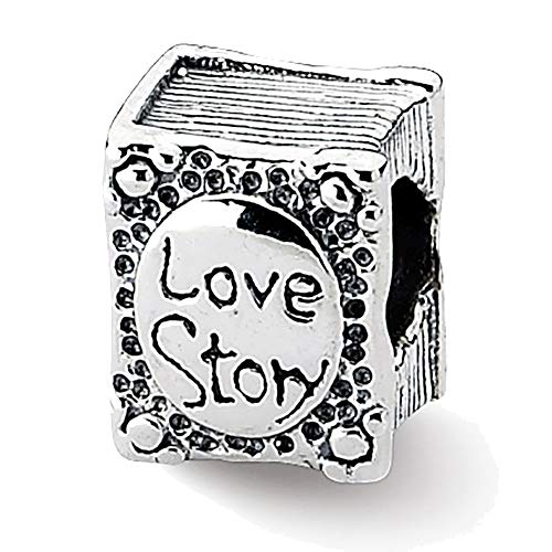 Lex & LU Sterling Silber Reflections Love Story Book Bead