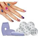 Absales Salon Express Nail Polish Art KIT Decoration Stamping Design Decals Paint Stamp.