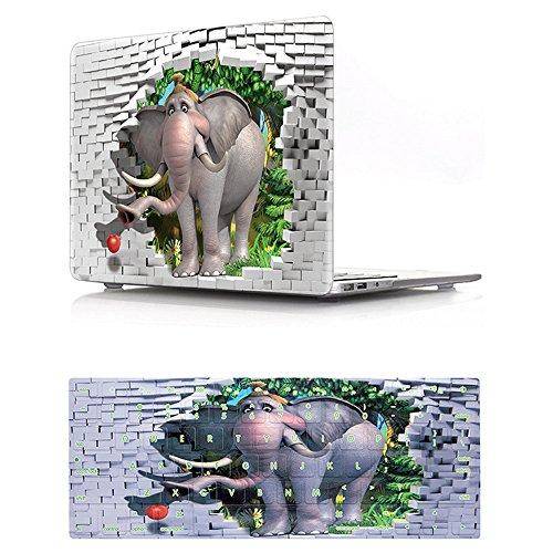 bestcatgift 3D Visual Gummierte Hard Case mit Tastatur Cover Anzug für MacBook Pro 38,1cm mit Retina Display (ohne CD-ROM-Laufwerk) (Modelle: A1398) elefant Macbook Pro Retina 15 inch (Elefanten Macbook Pro Retina Case)