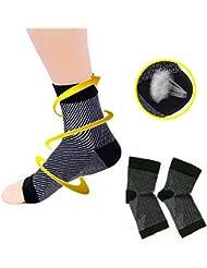 fasciite plantaire Chaussettes Foot Care Compression Chaussette Housse avec vo?te plantaire et cheville Supportmen Femme Chaussette de la fatigue (1 paire)