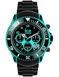 Ice-Watch - ICE Chrono electrik BK Turquoise - Schwarze Herrenuhr mit Silikonarmband - 013710 (Extra Large)