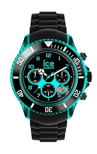 Ice-Watch - ICE Chrono electrik BK Turquoise - Reloj nero para Hombre con Correa de silicona - 013710 (Extra Large)