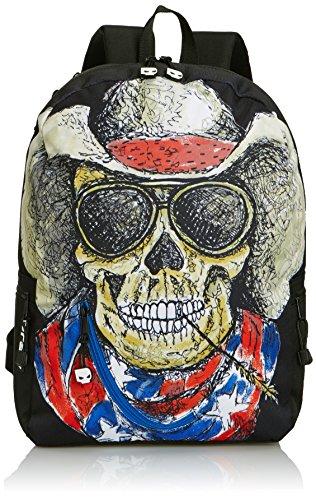 Mojo Cowboy Skull, Bolso Mochila para Hombre, Amarillo, 0