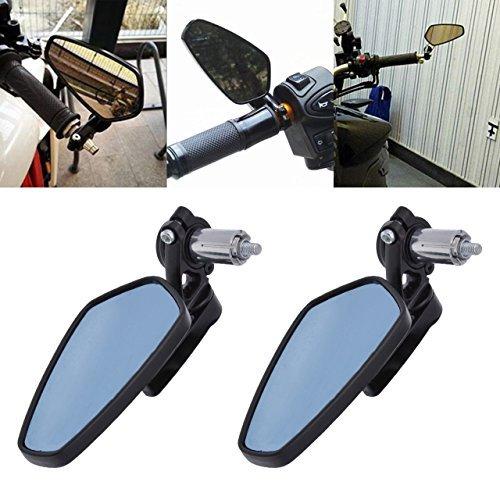 TUINCYN 7/8 Pulgadas Espejos de manillar de la motocicleta Espejo retrovisor de...